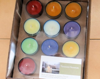 Scented Tealights-Wow Wax-10 Different Scents-Sampler