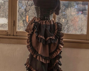 Black and brown cosplay steampunk bustle