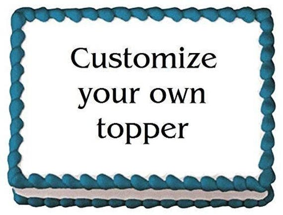 Create Your Own Custom Edible Cake or Cupcakes Topper For Birthdays and Parties!  Look Like An All-star!