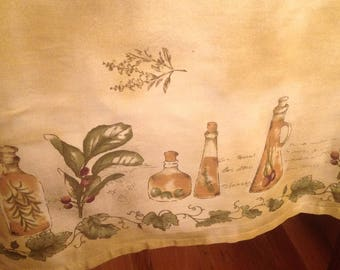 Vintage Tablecloth Tan Tablecloth With Fruit Countryside French Farmhouse  Cottage Chic French Country Decor Tuscan Decor