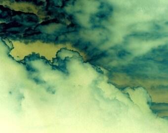 Nature Photograph, Surreal, Abstract, Monochrome, Clouds, Landscape Picture - Uriel - 5x7 Inch Print -  Fine Art Photography