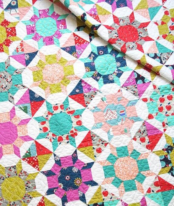 Schimmern Sie Quilt moderne Stern Quilt Muster von Allison