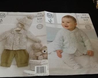 9907d11f4 Knitting pattern boys jackets cardigans DK light worsted hood