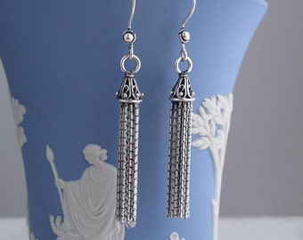 tassel sterling silver earrings
