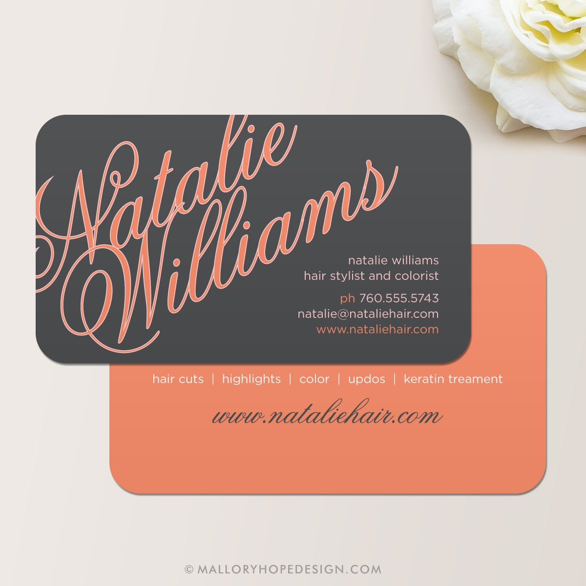 Elegant Name Business Card / Calling Card / Mommy Card /