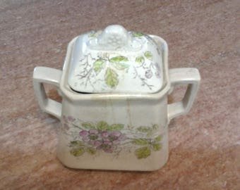 Graniteware Sugar Crock with lid