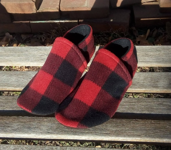 Buffalo Plaid: Men's Slippers 7/8