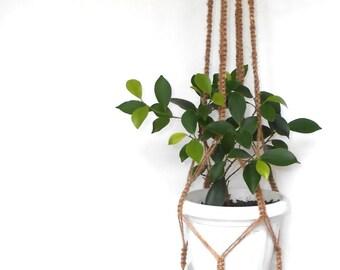 Macrame plant hanger / Plant holder / jute hanging planter / hanging planter / Planter / Plant hanger/ Pot holder / Rustic Decor / Boho