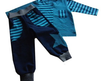 FELIX reversible pants, sizes 62-104 (6mo–4/5yr) / INSTANT DOWNLOAD