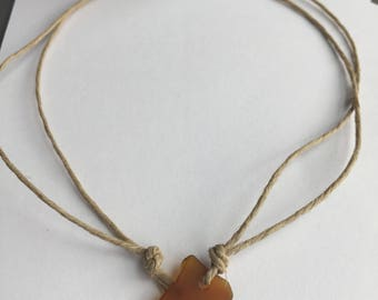 Surfer Brown sea-glass necklace