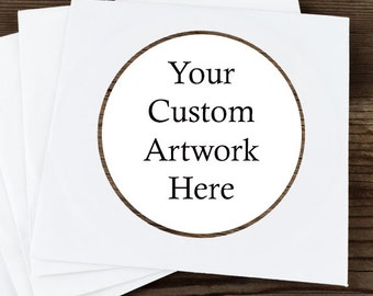Glossy Round Sticker Label Tags - Custom Wedding Favor & Gift Tags  - DIY Stickers - Your Own Artwork Stickers - Wedding Stickers