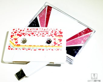 Valentines Day Mixtape! Personalized Cassette USB Flash Drive 8GB