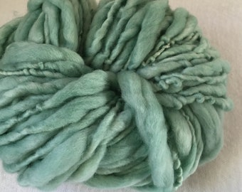 Green Hand Spun Hand Dyed Merino Chunky 50 Metres