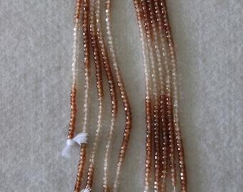Zircon, Zircon Rondelle, 3 mm, Faceted Rondelle, Semi Precious, Natural Zircon, Multicolor, Gemstone Bead, HALF Strand, AdrianasBeads