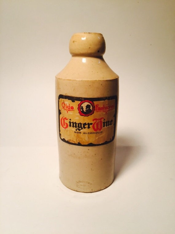 Antique Ceramic Collectible Olde Fashioned Ginger Wine Non Alcoholic Boulton Lambeth Bottle Circa 1930s