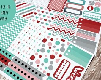 BIG Happy Planner Stickers - Happy Planner - Weekly Sticker Set - Mod Valentines Day stickers - Functional sticker set - Spring Stickers