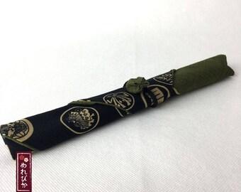 Chopstick Case Japanese style fabrics Family Crest Black Khaki Traditional Japanese patterns Chopstick Sleeve - Free Shipping!!