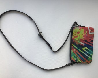 Neon Abstract purse