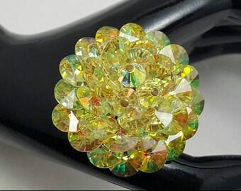 Yellow Crystal Pin