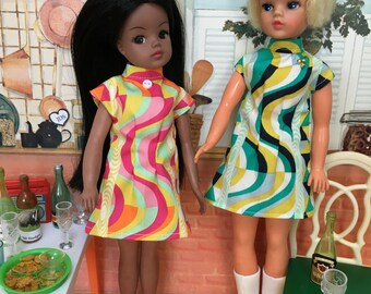 Swirly 60s dress ( Adult collectors)