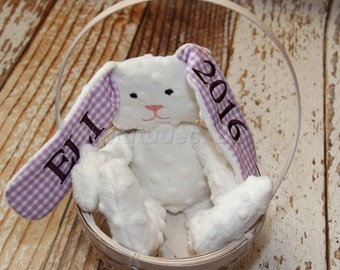 Personalized Stuffed Easter Bunny