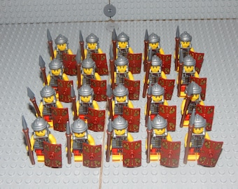 20 miniature figures Roman soldiers with Shield and Spear, Romans, New,,