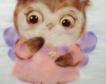 Tz-P025 Toyzy Kit «Fairy Owl» - Wool Painting A4