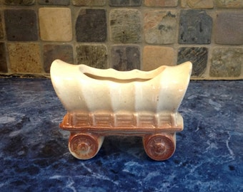 Vintage Covered Wagon planter