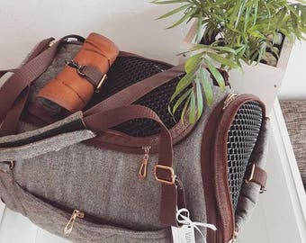 Vanilly pet carrier Travel Box tweed