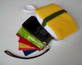 Crochet Pattern - SUSHI PURSE - For cell phone / money / others - PDF  (00398)