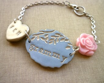 Grammy Bracelet with personalized grandchildren initials