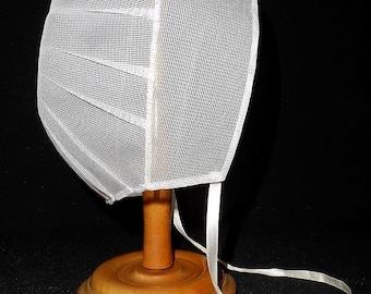 Mennonite Amish Head Covering-Veil-Cap-Prayer Bonnet-Pleated White Worship Covering-Kapp-Girls-Womens-Religion-Orphaned Treasure-T051518X