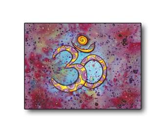 Indian Spiritual Art, Om symbol art, Instant Digital Download, Om sign illustration, Meditation Art, Yoga Om Wall Decor, Spiritual Art
