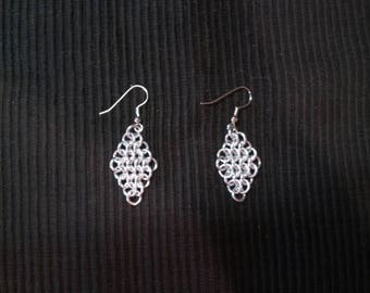 Diamond Chainmail Earrings