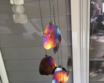 Tye-Dye Pumpkin Wind Chime