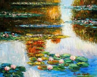 Claude Monet-Water lilies in light c94835 50 x 60 cm exquisite image