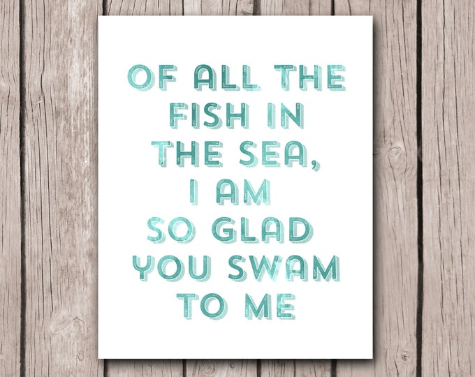 Mother's Day Gift for Wife Anniversary Gift For Wife for Husband Beach House Decor Wall Art Print Love Quotes Girlfriend, Boyfriend, Fiance