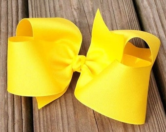 "6"" Yellow Hair Bow"