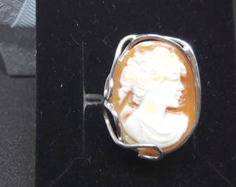Original cameo ring from Torre del Greco-Italy