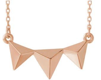 "Black Friday SALE! 14K Gold Geometric 16-18"" Necklace"