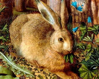 Hare ceramic decal, hare, hare transfer, animal decals, classic decals, decals enameling, decals glass, decals ceramics, decals pendants