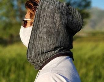 Rave Hood| Reversible Festival Hood| Hood Scarf| Mens Rave Wear| Womens Festival Wear| Womens Hooded Scarf| Trippy Hood| Psychedelic|