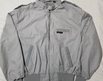 Vintage 80s Members Only Light Gray Full Zip Jacket