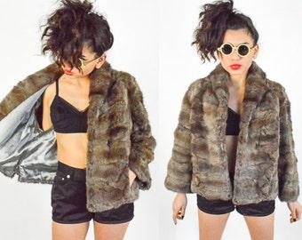 Vintage 1960's Tawny Fur Cropped Coat size - S/M