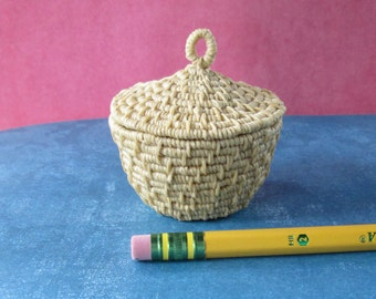 Miniature Waxed Linen Basket