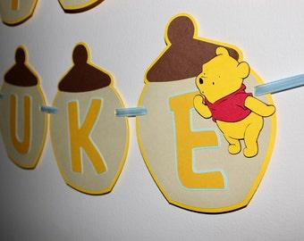 Happy Birthday Winnie the Pooh Banner, Winnie the Pooh Birthday, Winnie the Pooh Decor, Winnie, Pooh Bear, Winnie the Pooh Birthday Banner