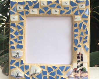Mosaic Picture Frame, Lighthouse