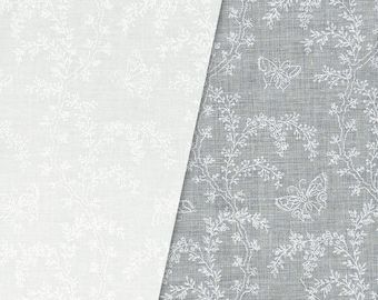 Garden Buzz White on White (2625-1) by RJR Fabrics Cotton Fabric