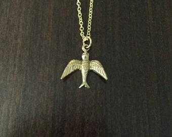 bird necklace, bird jewelry, bird pendant, bird, birds, gold bird, gold bird necklace, gold bird jewelry, gold necklace, gold jewelry