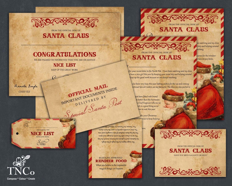 Santa letter printable santa claus letter reindeer food bag